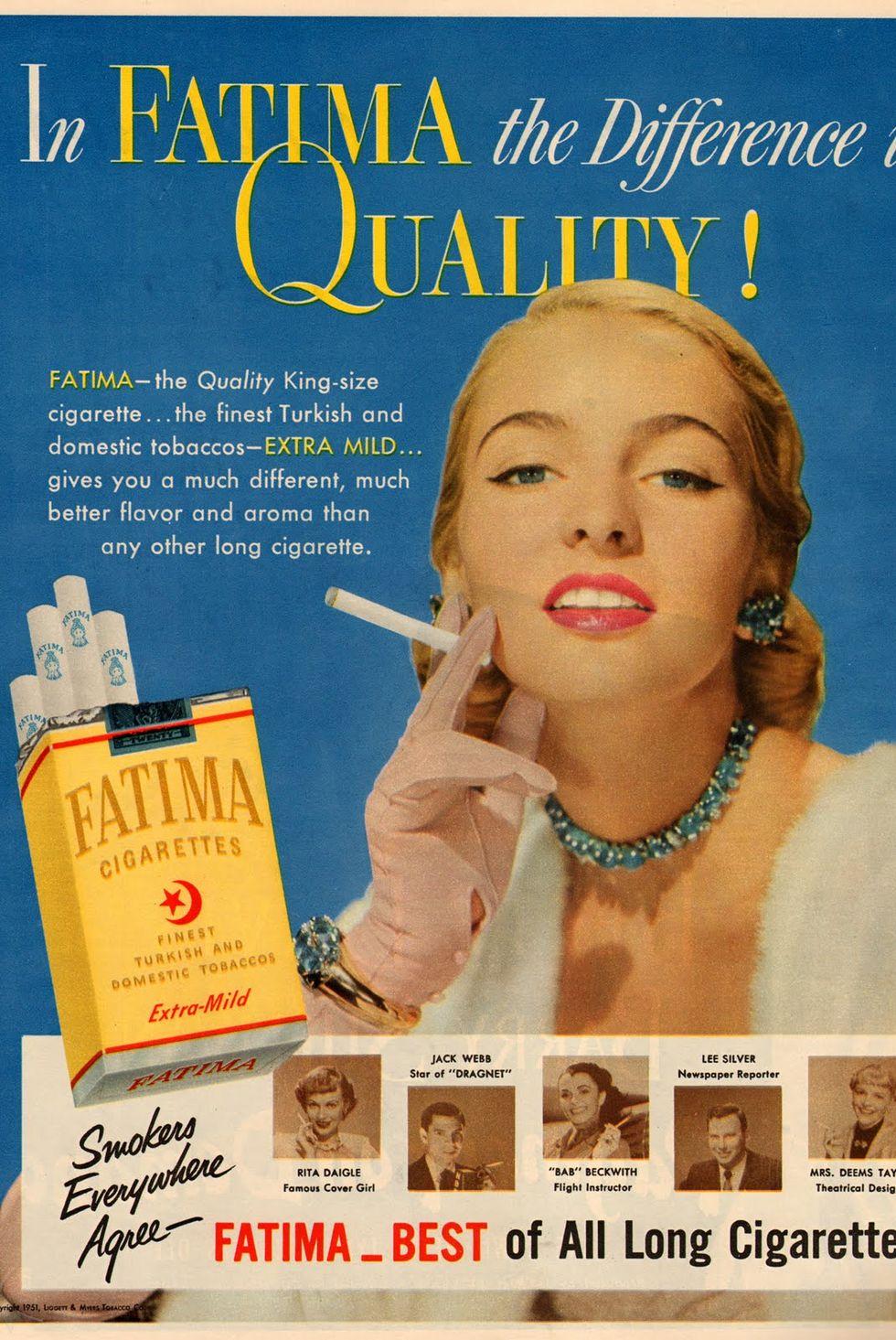 تبلیغات سیگار زنان